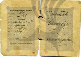 Iwan Lakusta's Austrian passport pages 2-3