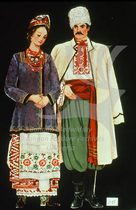 Men's and women's costumes. Dnipropetrovs'k region. Late XIXth - early XXth century.