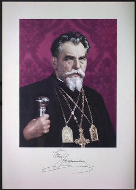 Signed print of Yosyf Slipyi