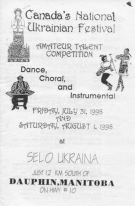 Dance, Choral, and Instrumental. Canada's National Ukrainian Festival.