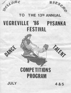Vegreville '86 Pysanka Festival Competitions Program