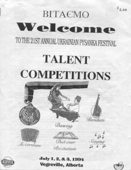 Welcome to the 21st Annual Ukrainian Pysanka Festival Talent Competitions