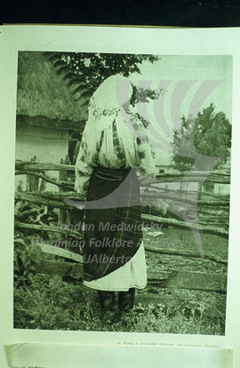 A woman in summer costume. Khmel'nyts'kyi region.