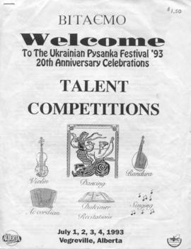 Ukrainian Pysanka Festival '93 Talent Competitions
