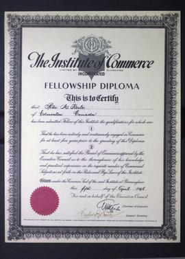 The Institute of Commerce Fellowship Diploma