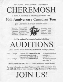 Cheremosh 30th Anniversary Canadian Tour