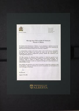 Message from Honourable Ed Stelmach Premier of Alberta