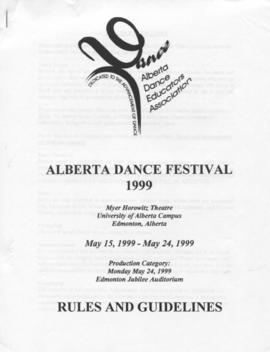 Alberta Dance Festival 1999 Rules and Guidelines