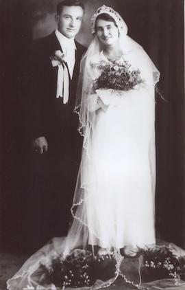 Wedding photograph of Wasyl and Anna Kuryliw