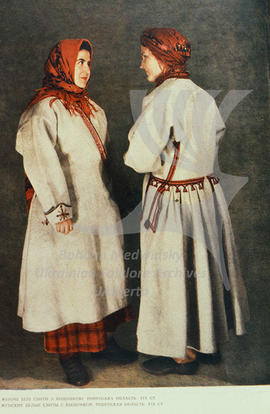 Women's white coats (svyta) with embroidery. Rivne region. XIX century.