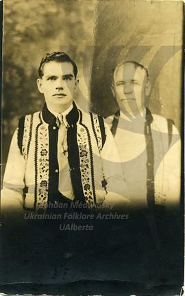 Nick's uncle Maftei Gaudun and cousin Onufrii in Bukovyna