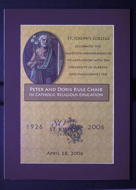 St. Joseph's College Celebrates the Eightieth Anniversary of its Affiliation with the University ...